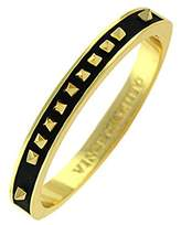 Vince Camuto Gold-tone and Black Pyramid Bangle Bracelet