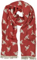Vivienne Westwood Absence Of Orbs Print Wool Blend Stole