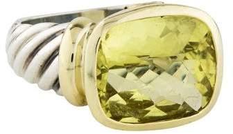 David Yurman Lemon Citrine Large Noblesse Ring