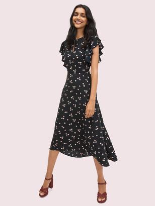 Kate Spade Ditsy Begonia Flutter-Sleeve Dress