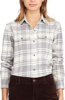 Chaps Women's Plaid Twill Button-Down Shirt