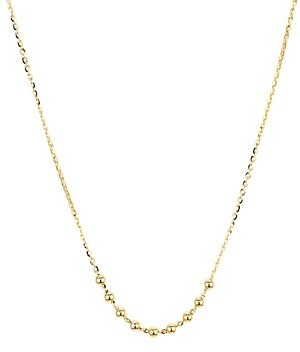 Argentovivo Beaded Chain Necklace in 14K Gold-Plated Sterling Silver, 16