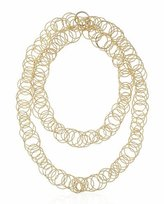 Buccellati Hawaii 18K Gold Interlocking Hoop Necklace