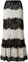 RED Valentino lace A-line skirt - women - Cotton/Polyester - 40