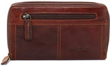 Jack Georges Voyager Large Zip-Around Genuine Buffalo Leather Wallet