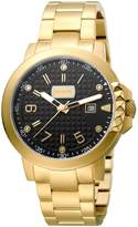 Just Cavalli Men's JC1G016M0085 Rock Rock Luminous Date Yellow Gold IP Black Dial Watch
