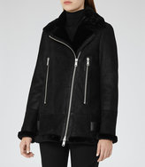 Reiss Starling Shearling Aviator Jacket