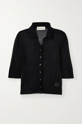 Mara Hoffman Net Sustain Veronica Modal And Organic Cotton-blend Top - Black