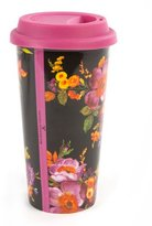 Mackenzie Childs MacKenzie-Childs Black Flower Market Travel Cup