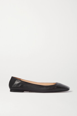 Cesare Paciotti Square-toe Leather Ballet Flats - Black