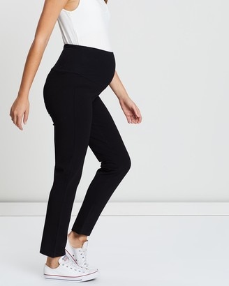 Angel Maternity Maternity Straight Cut Ponti Work Pants