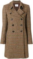 Dondup houndstooth pattern coat