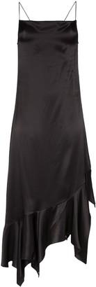 Marques Almeida Marques'Almeida square neck asymmetric dress