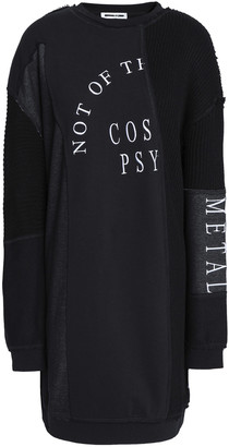 McQ Patchwork Embroidered Cotton And Modal-blend Mini Dress