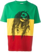 Palm Angels 'Rastafari Skull' T-shirt