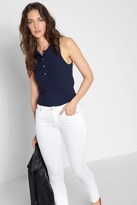 7 For All Mankind Ribbed Henley Tank In Navy