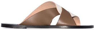 ATP ATELIER Allai flat leather sandals