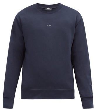 A.P.C. Steve Logo-print Cotton-jersey Sweatshirt - Navy