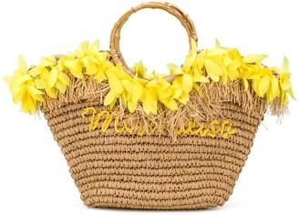 MonnaLisa Petal Straw Bag