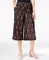 SHIFT Juniors' Lace Gaucho Pants, Only at Macy's