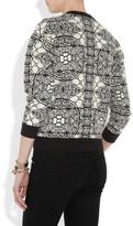 Alexander McQueen Chenille-jacquard sweater