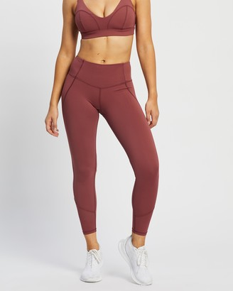 Lilybod - Women's Red Tights - Arizona 7-8 Tights - Size XS at The Iconic