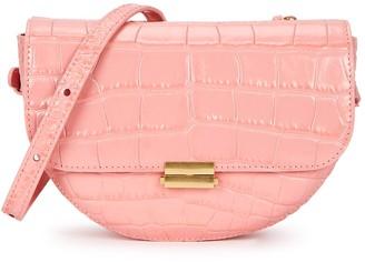 Wandler Anna pink crocodile-effect leather belt bag