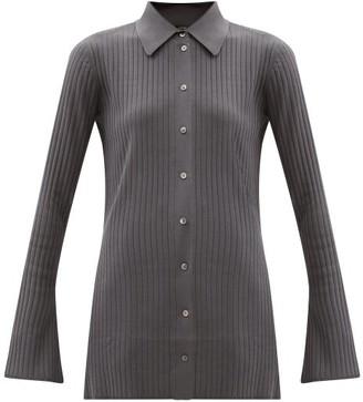 Joseph Beth Rib-knitted Shirt - Dark Grey