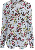 """Oasis PAINTED ROSE COLLAR SHIRT [span class=""""variation_color_heading""""]- Multi Grey[/span]"""