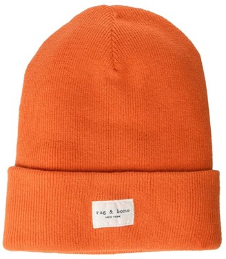 Rag & Bone Addison Beanie (Bright Orange) Caps