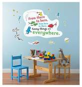 BuySeasons Dr. Seuss One Fish Two Fish Inspirational Quote Giant Wall Decal