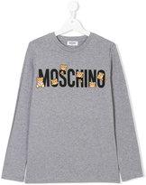 Moschino Kids - branded teddy bear top - kids - Cotton/Spandex/Elastane - 14 yrs