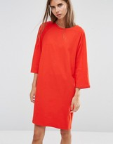 Asos Cotton T-Shirt Dress with Raglan Sleeve & Boat Neck