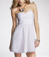 Express Cotton Voile Strapless Dress