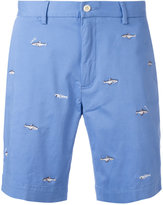 Polo Ralph Lauren fish embroidery chino shorts - men - Cotton/Spandex/Elastane - 33