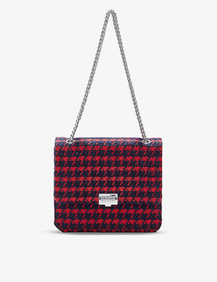 Claudie Pierlot Angela gingham tweed shoulder bag