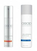 Asap Daily Exfoliating Facial Scrub 200ml + Advanced Hydrating Moisturiser 50ml