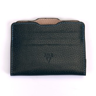 Atelier Hiva Double Card Holder Petrol Blue & Nude