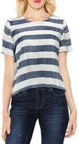 Vince Camuto Striped Herringbone Top