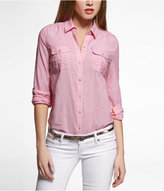 Express Chambray Two-Pocket Easy Fit Shirt