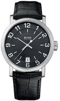 HUGO BOSS HB1512364 44 Stainless Steel Case Calfskin Mineral Men's Quartz Watch