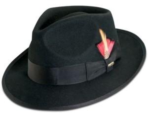 Scala Dorfman Pacific Men's Wool Snap-Brim Fedora