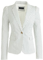 J.Crew Puff-sleeve blazer in triangle dot
