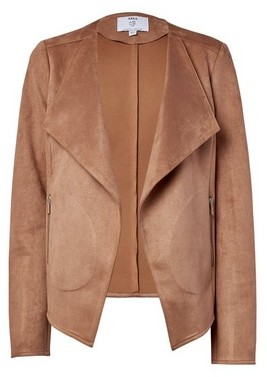 Dorothy Perkins Womens Tall Tan Suede Waterfall Jacket