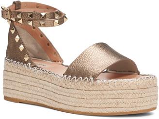 Valentino Rockstud Ankle Strap Espadrille Sandal