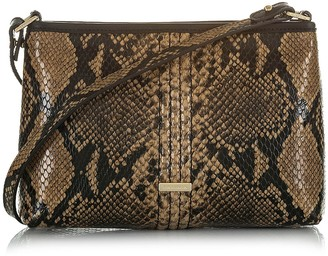 Brahmin Lorelei Snake Embossed Leather Shoulder Bag