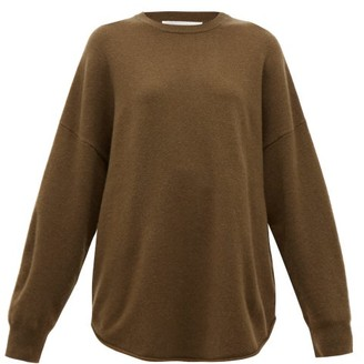 Extreme Cashmere - No. 53 Crew Hop Oversized Stretch-cashmere Sweater - Brown