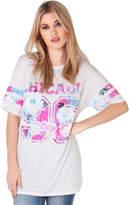 Clothing Women short-sleeved t-shirts Krisp Oversized Baseball T-shirt White Oversized Baseball T-shirt White
