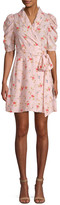 Jill Stuart Brianna Floral Wrap Mini Dress