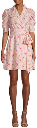 Jill Stuart Brianna Floral Wrap Mini Dress